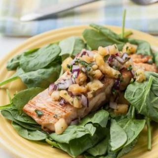 Grilled Salmon with Pineapple Salsa
