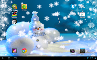 Screenshot of Snowfall live wallpaper
