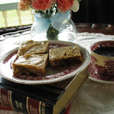 Coffee Pecan Crunch Bars W/Coffee Icing