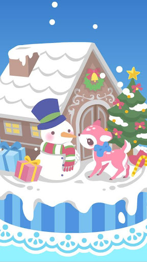 snow dream♪cute christmas FREE