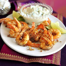 Spiced Prawns With Coriander Mayo