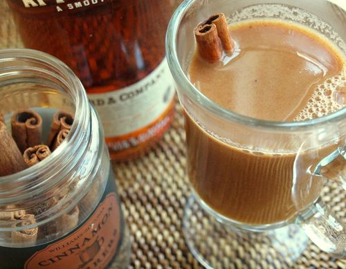 Hot Buttered Apple Cider with Rum