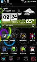 Screenshot of Rainbow Circles Go Launcher Ex