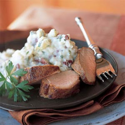 Mashed Potatoes with Blue Cheese and Parsley