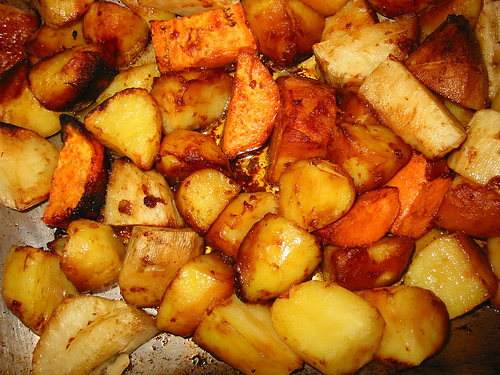 Two-Tone Roasted Potatoes