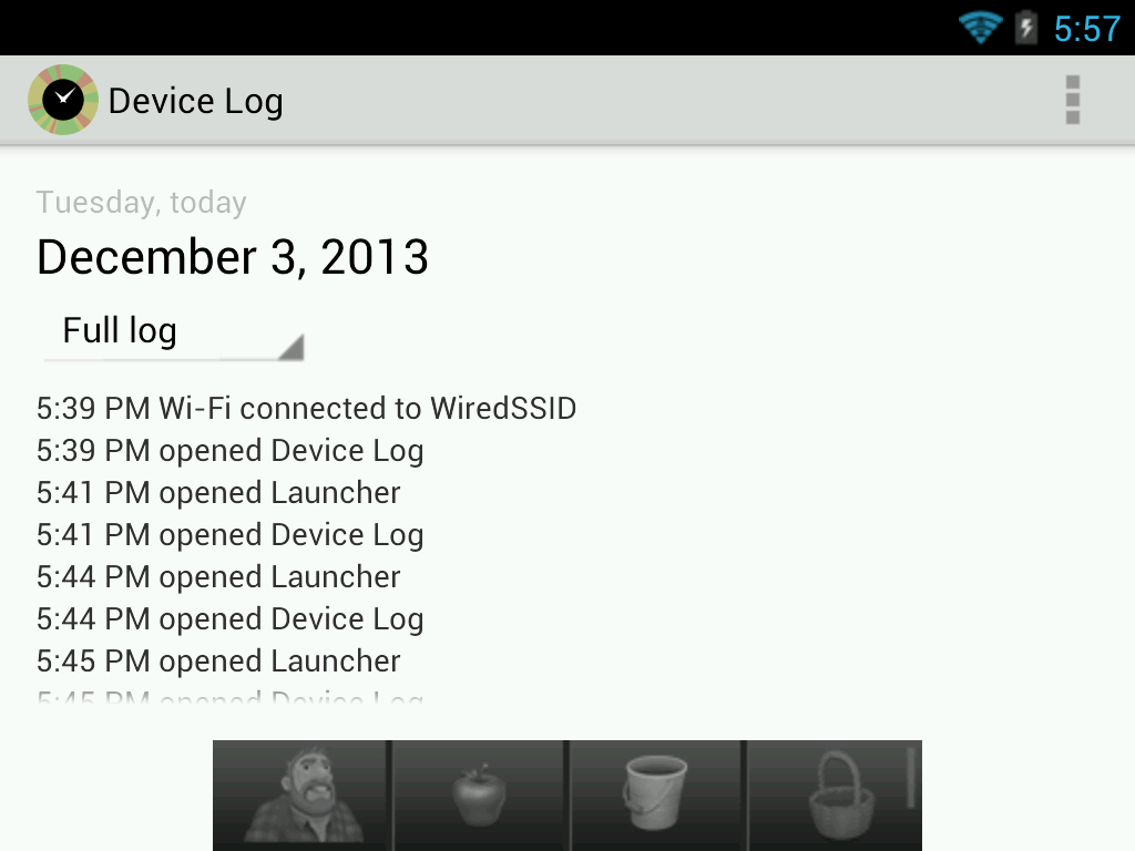 Device Log Screenshot 5
