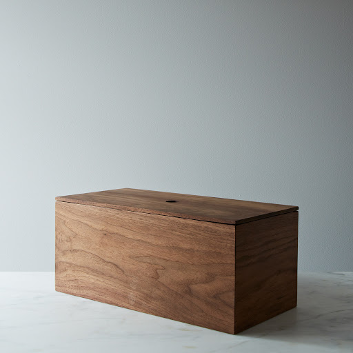Walnut Wooden Bread Box