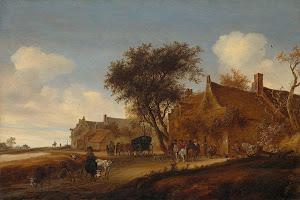 RIJKS: Salomon van Ruysdael: painting 1655