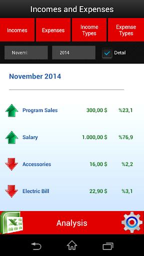 Income Expense - screenshot