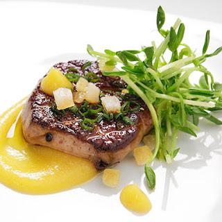 Pan-Seared Foie Gras With Spiced Citrus Purée
