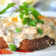 Creamed Salmon on Toast