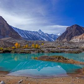 Aqua Blue by Asmar Hussain - Landscapes Mountains & Hills
