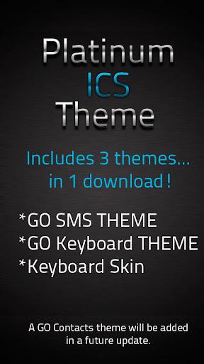 GO SMS ICS Platinum Theme