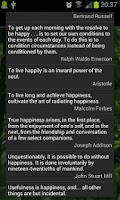 Screenshot of Happiness Quotes