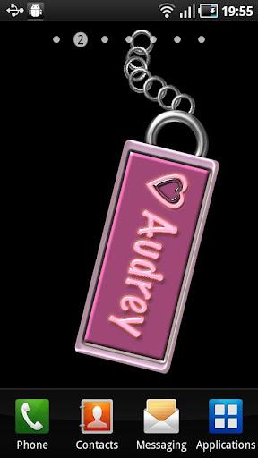 Audrey Name Tag