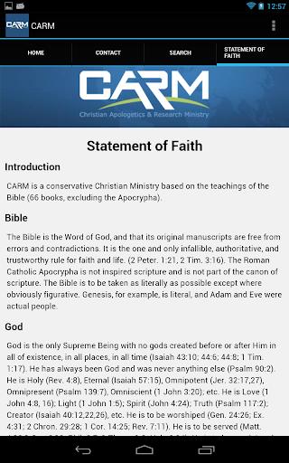CARM - screenshot