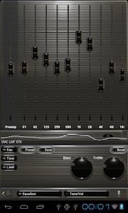 Poweramp skin steel - screenshot