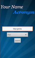 Screenshot of Name Acronym