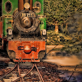 Steam locomotive by Andy Just Andy - Transportation Trains ( old, engine, vintage, locomotive, train )