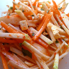 Kohlrabi and Carrot Salad with Harissa