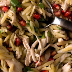 Poached Chicken and Pomegranate Orzo  Recipe