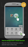 Screenshot of 삐뚤빼뚤윤자 dodol launcher font