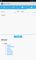 Screenshot of French<->Polish Dictionary
