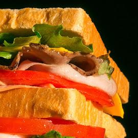 Club sandwich by Cary Chu - Food & Drink Plated Food