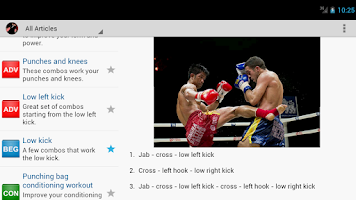 Screenshot of Muay Thai Combos