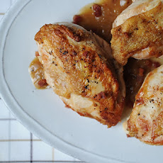 chicken breast with dijon sauce and crispy pancetta roast chicken ...