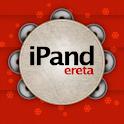 Tambourine Christmas icon