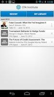 Screenshot of CFA Institute Mobile App
