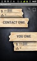 Screenshot of My Debts Pro