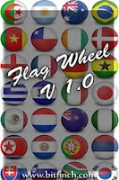 Screenshot of Flag Wheel Quiz
