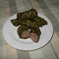 Thit Bo Cuon La Luop (Vietnamese Beef in Grape Leaves)