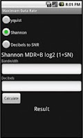 Screenshot of Maximum Data Rate