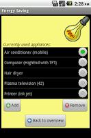 Screenshot of Energy Saving