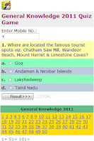 Screenshot of General Knowledge 2011