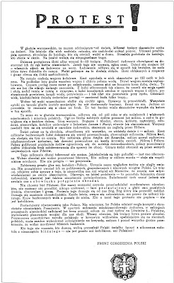 "An official proclamation of the Underground Front for the Rebirth of Poland authored by Karski's mentor and confidante, Zofia Kossak, co-founder of a Catholic underground group ""Front For The Rebirth of Poland"" and ""Council to Aid Jews"" (""Żegota""), author of bestselling books of historical fiction."