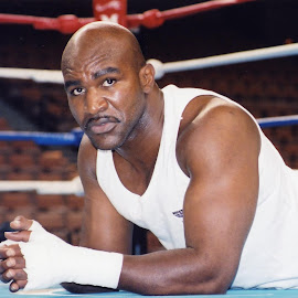 Evander Holyfield training for a world title fight. by Stephen Jones - Sports & Fitness Boxing