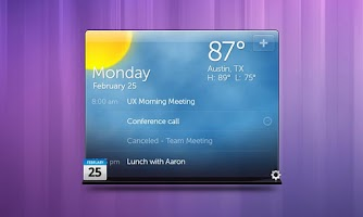 Screenshot of Dell Stage Weather Widget