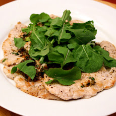 Dinner Tonight: Pork Scaloppine with Lemon, Capers, and Chopped Arugula