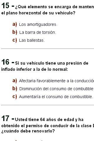 Test Autoescuela examen DGT