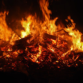 Bonfire by Annette Barton - News & Events Entertainment ( bonfire, flames, fire )