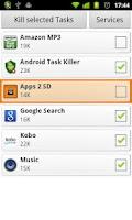 Screenshot of Android Task Killer