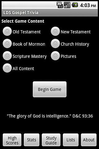 LDS Gospel Trivia