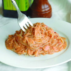 Creamy Vodka Sauce Pairs Well With Baked Salmon And Pasta