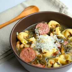 Tortellini and Kielbasa Soup adapted from Bon Appetit, February 2002