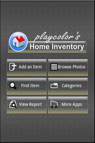 Playcolors Home Inventory Pro