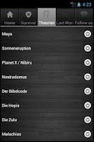 Screenshot of Weltuntergang Überlebens App